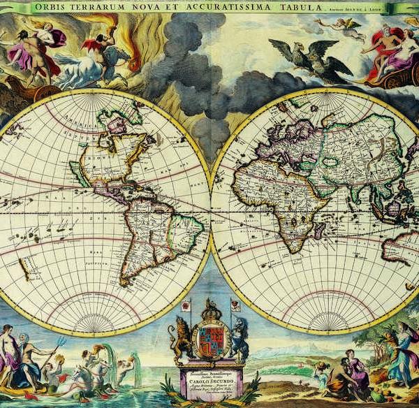 020 Старинные карты мира