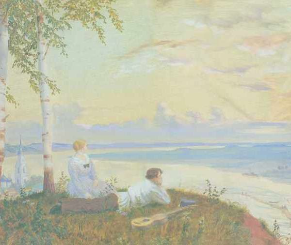 193 Кустодиев В,На волге