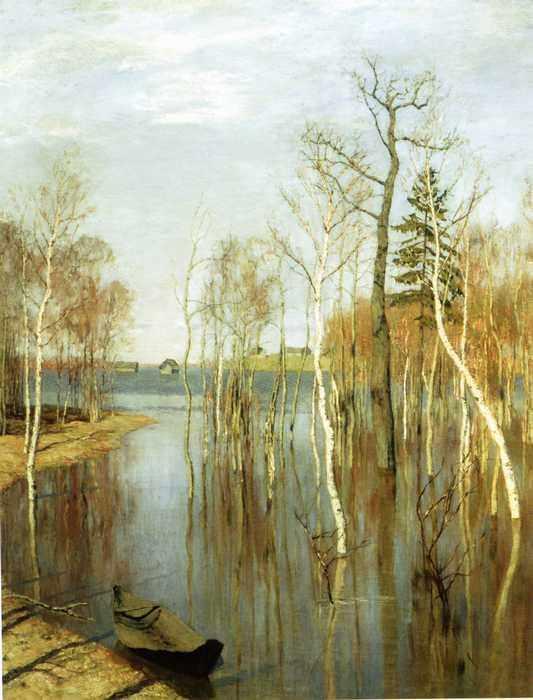 198 Левитан, Исаак. Весна. Большая вода