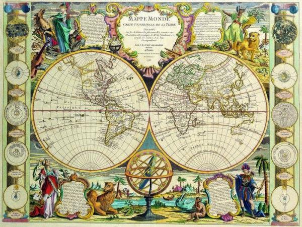 019 Старинные карты мира