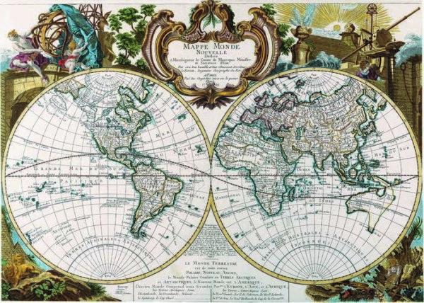 017 Старинные карты мира