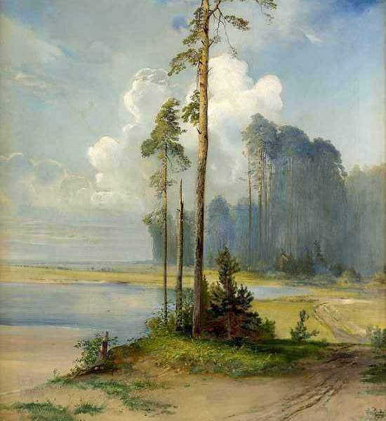 230 Саврасов А К.Летний пейзаж
