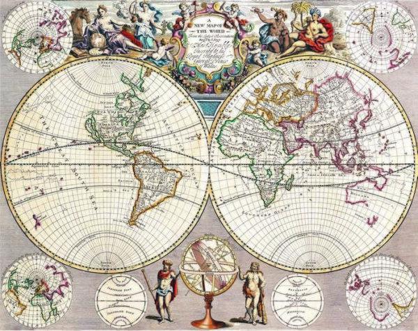 008 Старинные карты мира