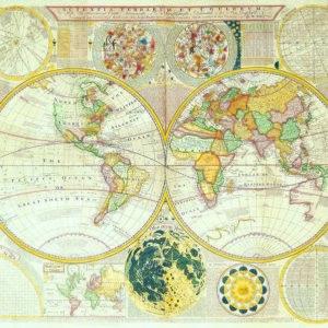 061 Старинные карты мира