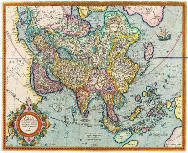 054 Старинные карты мира