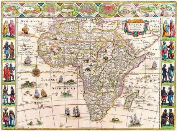 044 Старинные карты мира