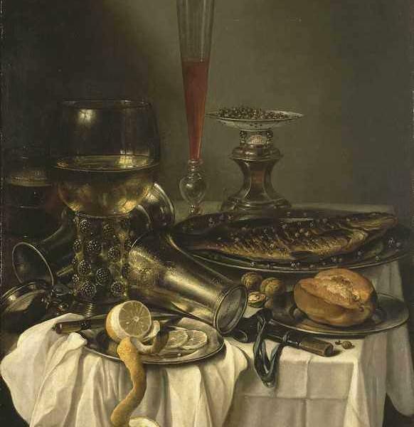 082 Claesz Pieter — Breakfast with Fish