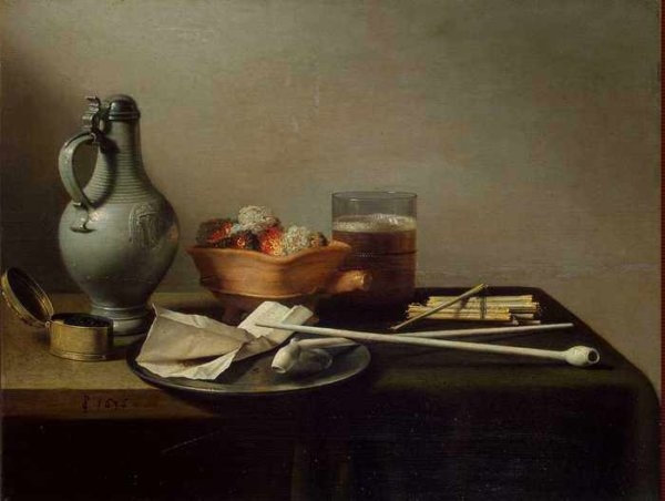 084 Claesz Pieter - Still Life with Clay Pipes