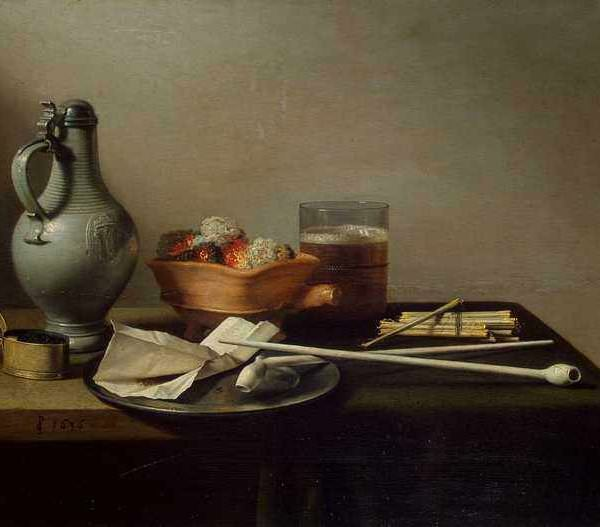 084 Claesz Pieter – Still Life with Clay Pipes