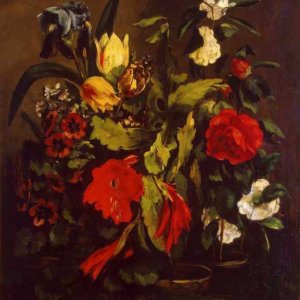 085 Courbet Gustave - Still Life of Flowers
