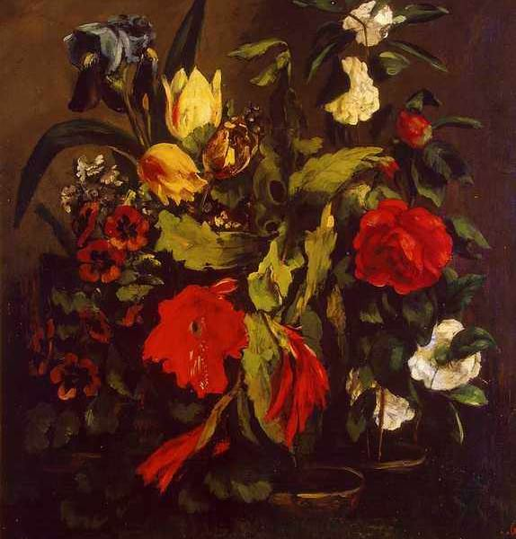 085 Courbet Gustave — Still Life of Flowers