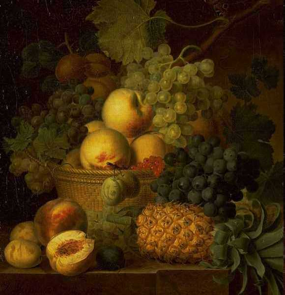 086 Dael Jean Francois van – Basket of Fruit