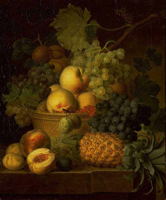 086 Dael Jean Francois van - Basket of Fruit