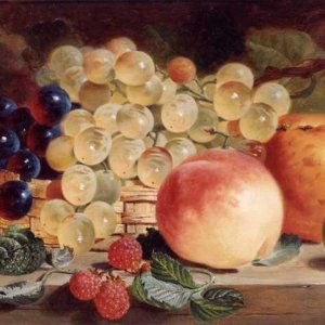 092 George Lance - Still Life with Fruit on a Table