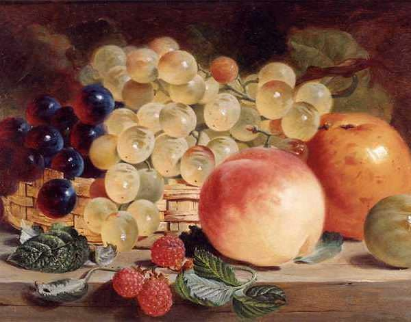 092 George Lance — Still Life with Fruit on a Table
