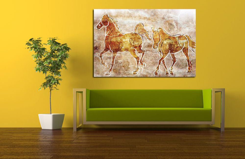 Maxwell-Dickson-Horses-on-the-Wall-Painting-Prints-on-Canvas-HorsesontheWall