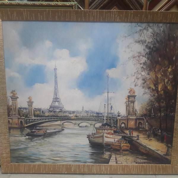 Картина «Летний пейзаж с речкой»  62х122 см – О212