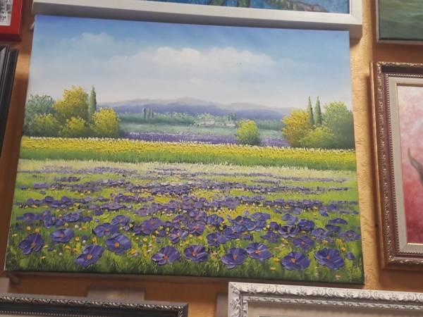 Картина «Поле с фиолетовыми цветами» – О214