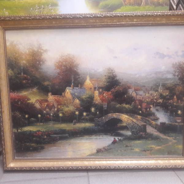 Картина «Мостик через речку» в раме 46х61,2 см – О218