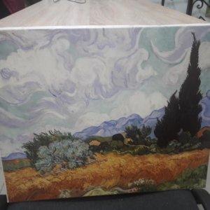 Ван Гог «Пшеничное поле с кипарисами» обычная натяжка 40х50 см – О221