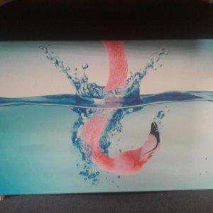 «Фламинго» галерейная натяжка 30х50 см – О225