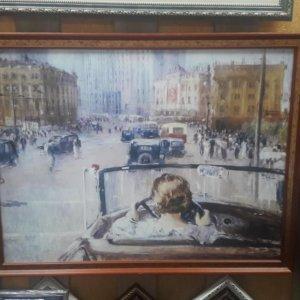 Картина Ю. Пименов «Новая Москва» в раме 53х70 см – О230