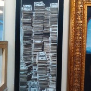 Картина «Мой первый миллиард» в раме 71х23 см – П237