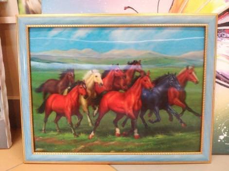 3d-картинка «Лошади» в раме  29,5х39,5 см  – П238