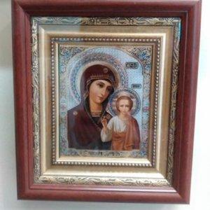 Икона «Богоматерь Казанская» в раме 15,5х12,5 см - П240