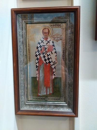Икона «Св.Николай Чудотворец» в раме 24,8х12,7 см – П242