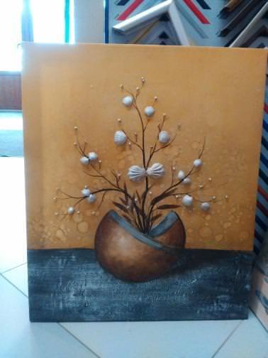 Картина «Ваза с ракушками»  62х52 см – П249