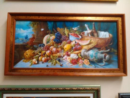 Картина «Натюрморт с фруктами» в раме 23х48 см – П250