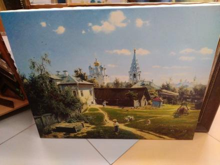 Поленов «Московский дворик» в раме  81х99,6 см – П251