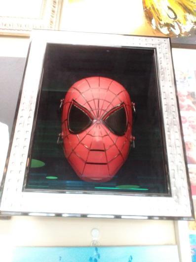 Маска «Человек-паук» в раме  35,5х27,5 см – П252