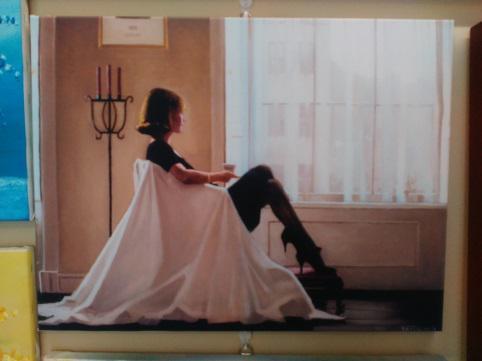 Картина Д. Веттриано «Мысли о тебе» обычная натяжка 38х50 см – П257
