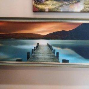 Картина «Причал» в раме 24,5х62 см - П262