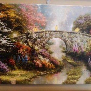 «Мостик» 29х39,5 см галерейная натяжка - П263