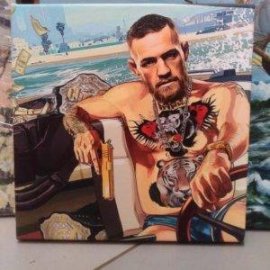 Картина «Конор Макгрегор» галерейная натяжка 23,5х23,5 см - П264