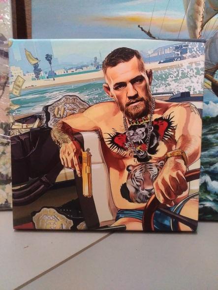 Картина «Конор Макгрегор» галерейная натяжка 23,5х23,5 см – П264