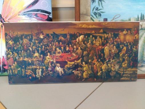 Картина «Исторические личности» обычная натяжка 27,5х60 см – П266