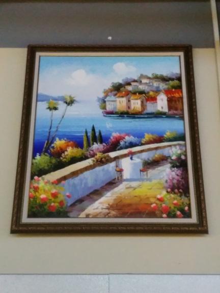 Картина «Греция» в раме 62х52 см - П268