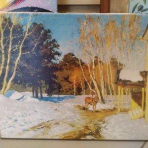 Картина «Весна пришла» обычная натяжка 31,5х40 см - П271
