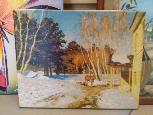 Картина «Весна пришла» обычная натяжка 31,5х40 см – П271