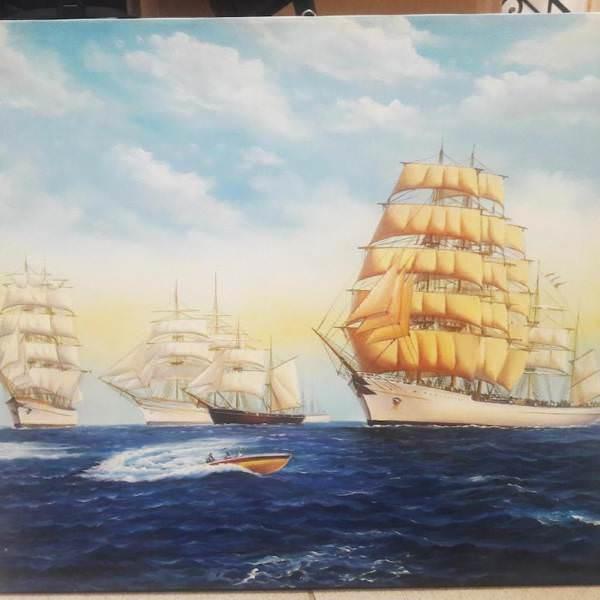 Картина «Корабли»  52х62 см