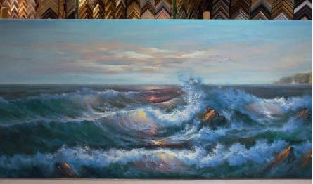 Картина «Морской прибой»  62х122 см