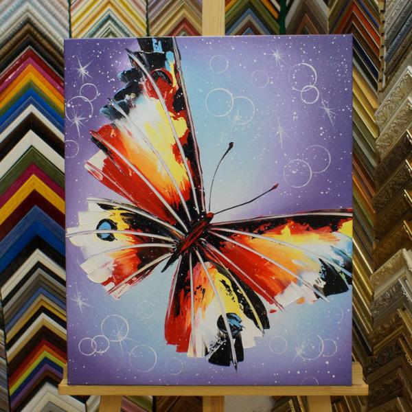 Картина галер натяжка Бабочка 61х50см -124