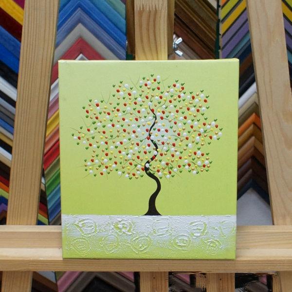 Картина галер натяжка Дерево на зеленом 22х25см -143