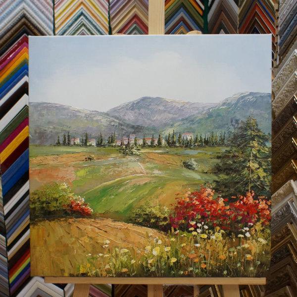 Картина галер натяжка Итальянский пейзаж 59х59см -132