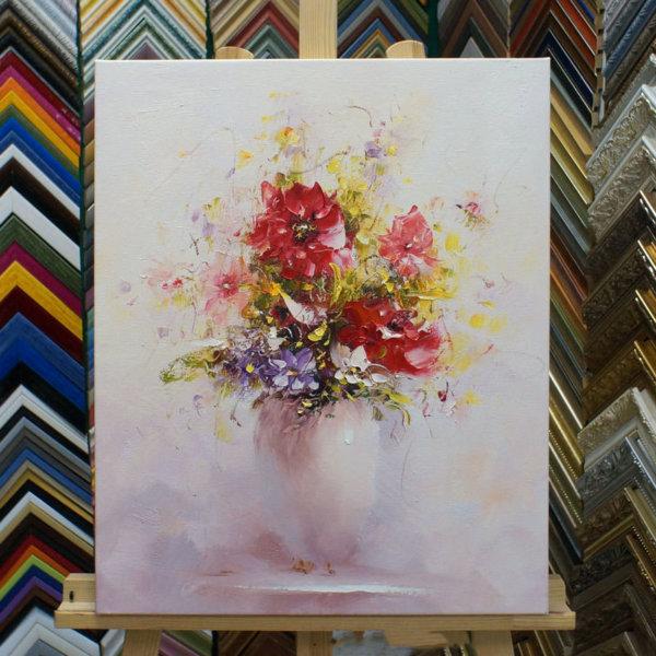 Картина галер натяжка Ваза с цветами 47х58см -116