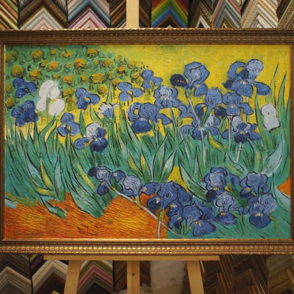 Картина в раме Ван Гог Ирисы 62х91см -149